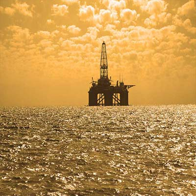 marine oil field